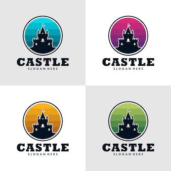 Castle logo icon design template.vector illustration