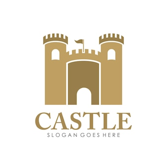 Castle logo, icon, and illustration design template