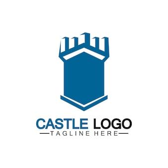 城ロゴシンボルベクトルイラストデザインテンプレート