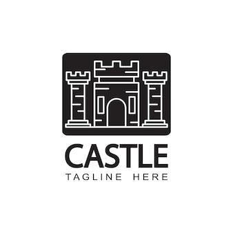 城のロゴのテンプレートデザイン