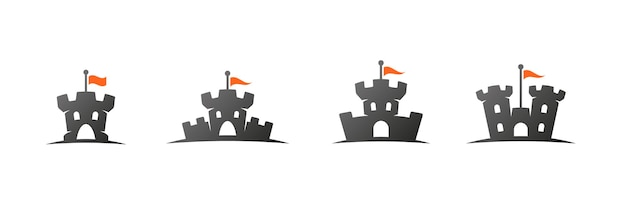 Castle logos and icons set