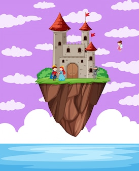 A castle above the ocean