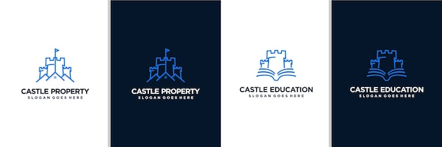 Castle property and castle education logo design