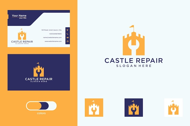 Castle repair logo design and business card