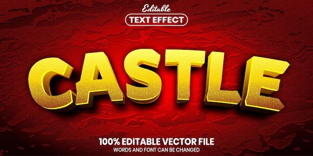 Текст замка, редактируемый текстовый эффект стиля шрифта