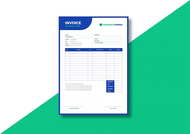 Casual business invoice template