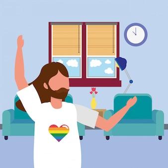 Casual happy people cartoon illustration