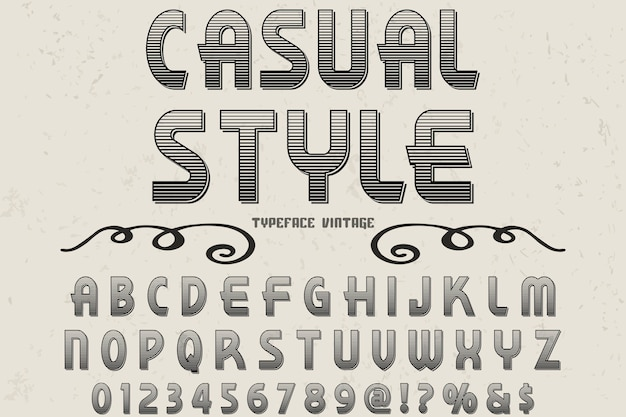 Casual style alphabet label design