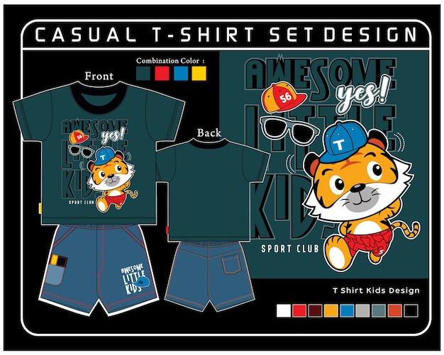 カジュアルtシャツセットデザイン