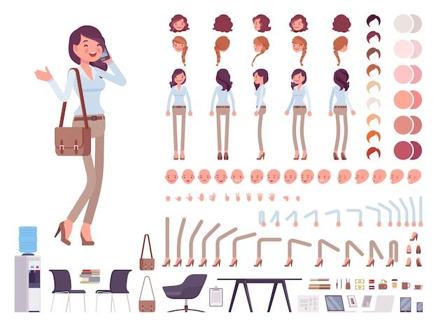 Повседневный набор женских персонажей