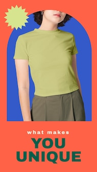 소셜 미디어 이야기를 위한 캐주얼 여성 패션 템플릿 벡터