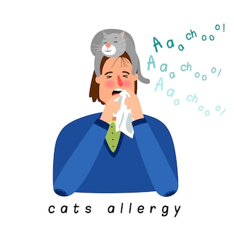 Cat allergy woman