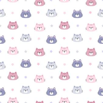 고양이 별 완벽 한 패턴 배경