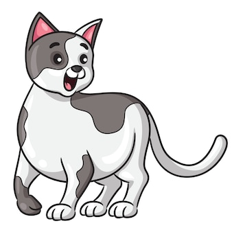 Cat cartoon style
