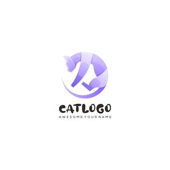 Кошка красочный логотип