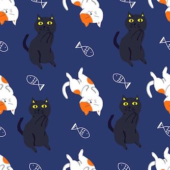 Кошка цветной узор