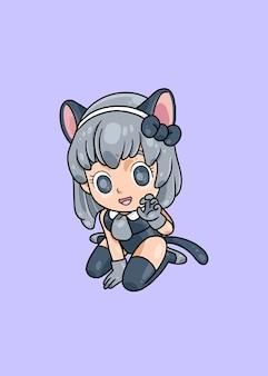 Кот косплей