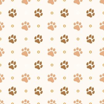 Cat and dog paw seamless pattern