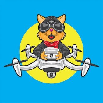 Cat drone pilot