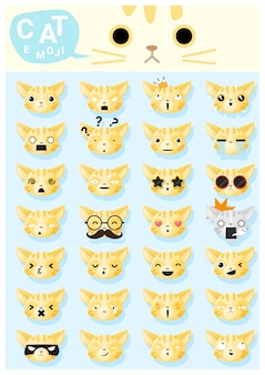 Cat emoji icons
