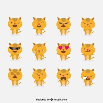 変な顔を持つ猫の絵文字