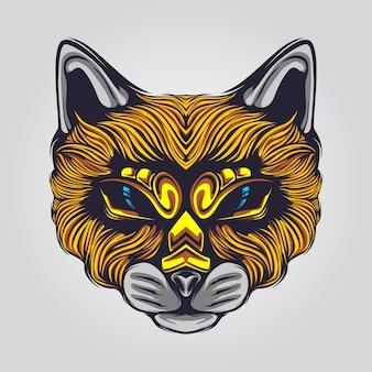 Иллюстрация лица кота