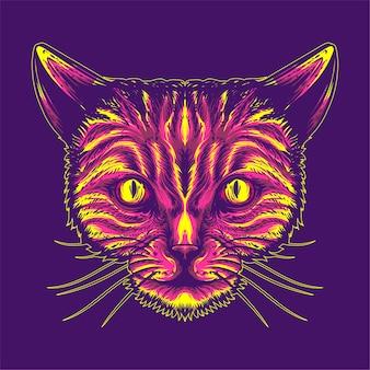 猫の顔のイラスト