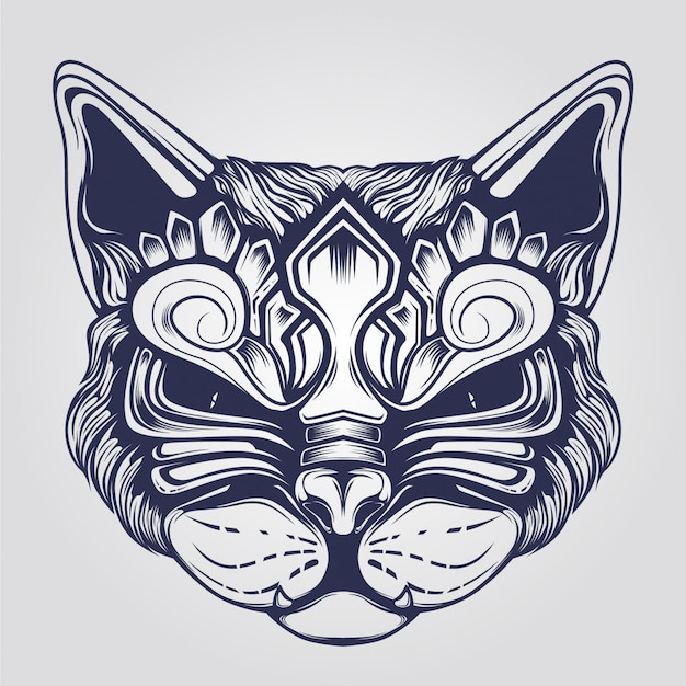 Cat face ornamental