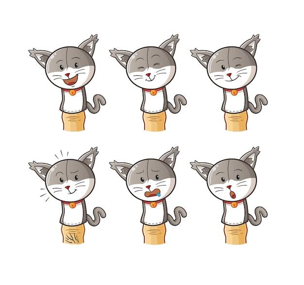 고양이 손가락 인형 만화.