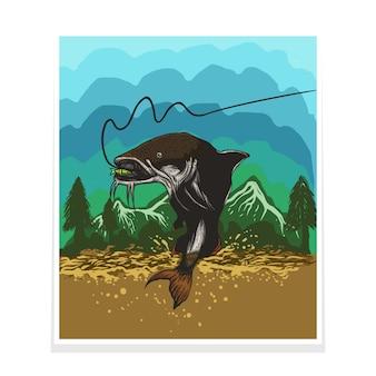Cat fish poster