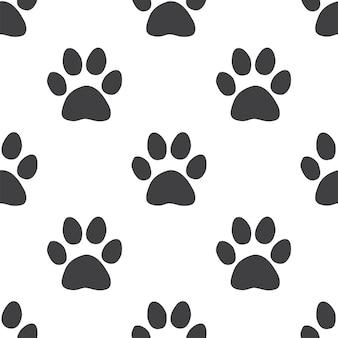 猫の足跡、ベクトルのシームレスなパターン、編集可能webページの背景、パターンの塗りつぶしに使用できます