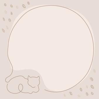 Cornice per gatti, vettore di design estetico sfondo beige