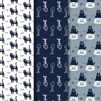 Cat funny seamless pattern