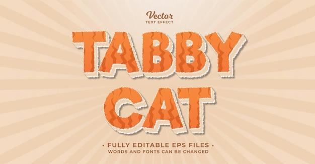 고양이 모피 텍스트 효과 편집 가능한 eps cc 단어 및 글꼴을 변경할 수 있습니다.