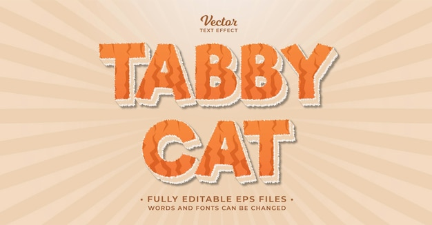 Cat fur text effect editable eps cc words and fonts can be changed