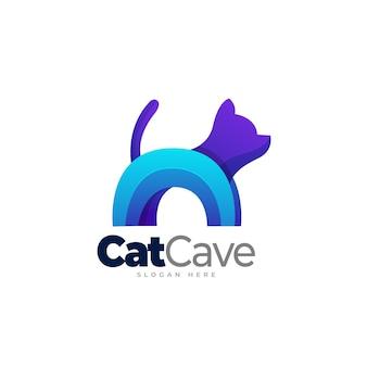 Cat gradient logo template