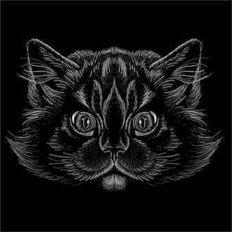 Cat head illustration