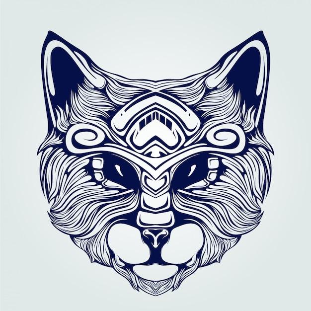 Линия головы кошки