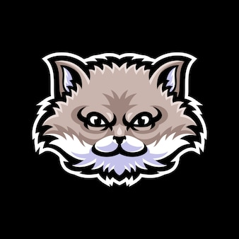 Cat head mascot logo template