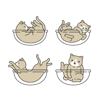 猫アイコンキャラクター漫画