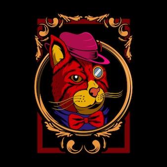 The cat illustration