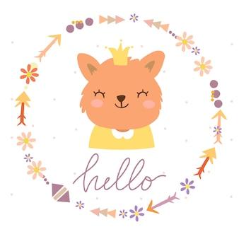 こんにちは花輪の猫