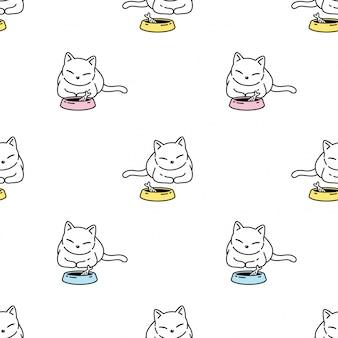 Кот котенок бесшовные модели