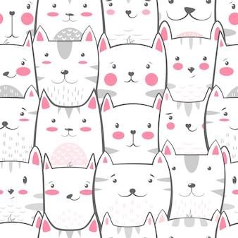 Cat, kitty - cute, funny pattern