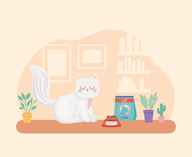 Cat in living room