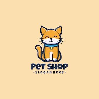 猫のロゴマスコット