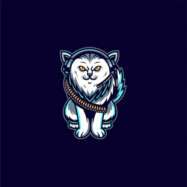 Cat mascot character illustration
