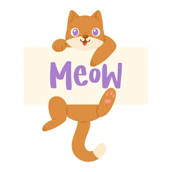 Cat meow character