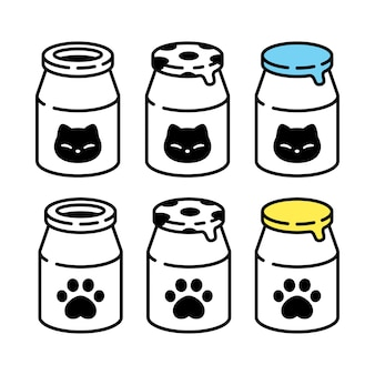 Cat milk bottle icon