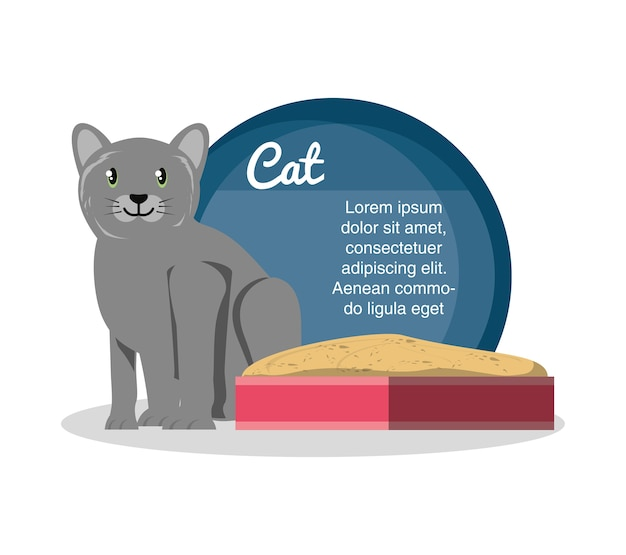 Значок кошки на песочнице